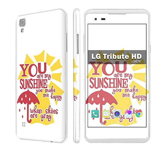 LG [Tribute HD] Decal Mania Skin Sticker [Matching Wallpaper] - [You are My Sunshine] for LG [Tribute HD] LS676 [5