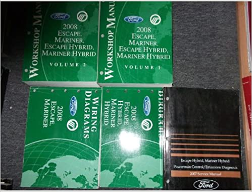2008 Ford Escape Mariner Hybrid Service Shop Manual 2 Volume Set Powertrain Control Emission Diagnosis Manual And The Electrical Wiring Diagrams Manuals Ford Amazon Com Books