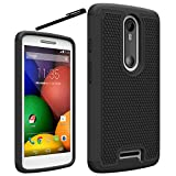 Motorola Droid Turbo 2 Case, OEAGO Moto X Force Case Cover Accessories - Shock-Absorption Dual Layer Defender Protective Case Cover For Motorola Droid Turbo 2 / Moto X Force (2015 Release) - Black