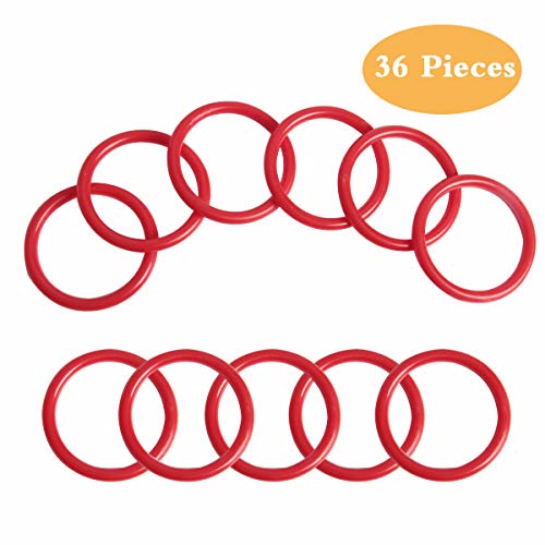 SBYURE 36 Pieces Plastic Toss Rings Toy Cubby Ring Toss Ring-a-Bottle for Kids Ring Toss Game,Speed and Agility Training Games,Speed and Agility Training Games -