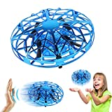 Toys for 3-10 Year Old Boys Girls Flying Ball Mini Drone for Kids Hand Controlled Flying Toys UFO Remote Control Helicopter Birthday Gifts Blue