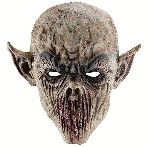 Latex Full Head Bloody Creepy Monster Mask Evil Scary Ghost Mask for Halloween Masquerade Costume Cosplay Party -