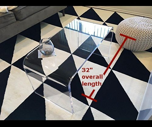 southeastflorida Acrylic Coffee Table 32 x 16 x 16 x 3/4 premium domestic - Clear Acrylic Coffee Table