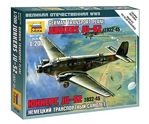 German Transport Plane Junkers Ju-52 Snap Kit (52 Ju Junkers)