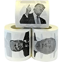 Fairly Odd Novelties Donald Trump Novelty Political Humor Funny Toilet Paper Gag Gift, Set of 3 Rolls.