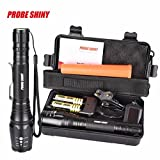 Flashlight,LandFox G700 X800 CREE XML T6 LED Zoom Tactical Military Super Torch Flashlight Set With Battery +Charger