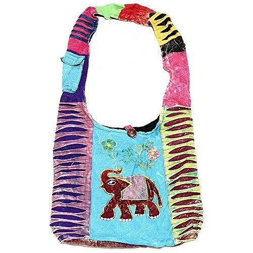 Bohemian Hippie Crossbody Shoulder Bag Sling Cotton Handmade (2015)