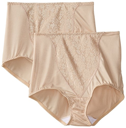 Bali Women's Shapewear Double Support Coordinate Brief 2-Pack, Soft Taupe, 3X