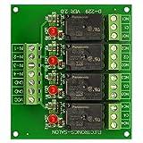 Electronics-Salon 4 SPDT 10Amp Power Relay Module, DC 5V Version.