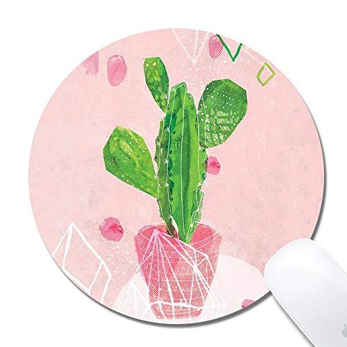 Beemars - Alfombrilla de mouse cuadrada para computadora, diseño de nebulosa, Cactus, Redondo