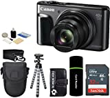 Canon PowerShot SX720 HS 20.3MP 40x Super Optical Zoom Digital Camera + SanDisk 32GB Card + Case + Tripod - 32GB Deluxe Accessories Bundle