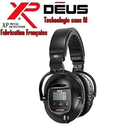 Metal Detectors Xp-Detector De metales Deus Light4 Tecnología inalámbrica-Auriculares De diadema inalámbricos Ws5-Disco duro Dd, 28 Cm, incluye protector ...