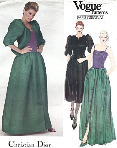 Vogue vintage sewing pattern 2834 Christian Dior ball gown and jacket - Size 8