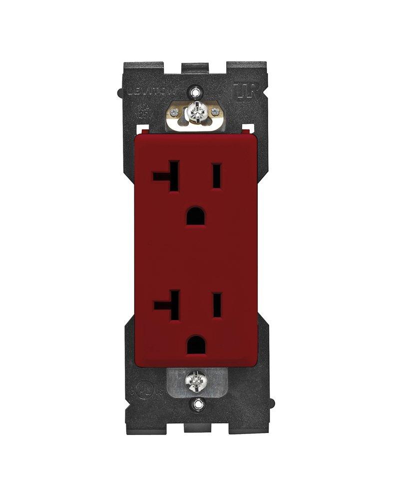 Leviton RKR20-OB Renu 20-Amp Tamper Resistant Receptacle Color Change Kit Onyx Black