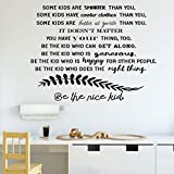 'Be the Nice Kid' Vinyl Wall Quote with silhouette branch – Living Room, or Bedroom - Large, Medium and Small Sizes Available