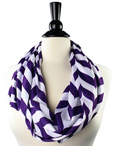 [Pop Fashion Womens Infinity Scarf with Zipper Pocket, Chevron, Infinity Scarves (Purple)] (Kids Greek Outfit)
