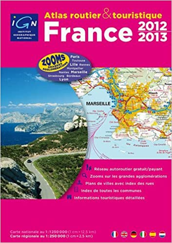 carte ign france gratuit France Atlas Spiral Bound A4 2012/2013 Ign (French Edition): Ign