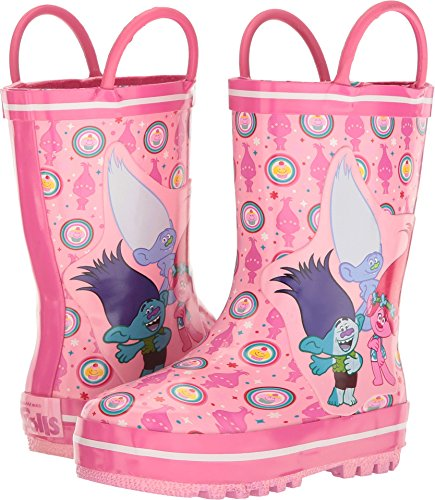 Favorite Characters Baby Girl's Trolls Rain Boots TLF500 (Toddler/Little Kid) Fuchsia/White 9 M US Toddler