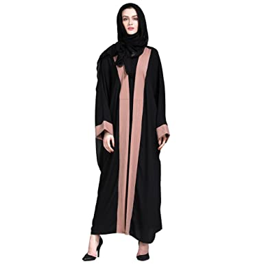 Hougood Abaya Dresses for Women Cardigan Robe Abaya Kaftan Open Full Length  Ladies Maxi Dress Long Sleeve Muslim Islamic Arab Dubai Embroidery Kaftan  Robes ... 654138cfdc72