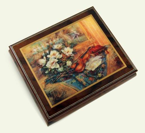 芸能人愛用 絶妙な木製トーンErcolano音楽ジュエリーボックス –