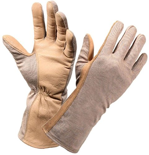 Military Sheepskin Leather Flame & Heat Resistant Fireproof Flight Gloves Sheepskin Wool Gloves