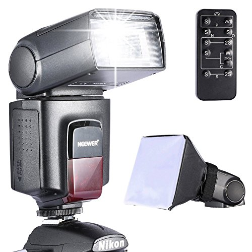 Neewer TT560 Speedlite Flash Kit for Canon Nikon Sony Pentax DSLR Camera with Standard Hot Shoe,Includes: (1)TT560 Flash + (1)Flash Diffuser + (1)Remote Control Pentax Canon Digital Rebel