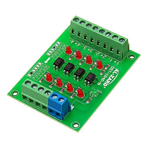5V to 24 v 4チャンネルフォトカプラアイソレーションボード絶縁モジュールPLC信号レベル電圧コンバータボード4ビット
