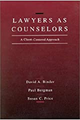 Lawyers As Counselors: A Client-Centered Approach Paperback