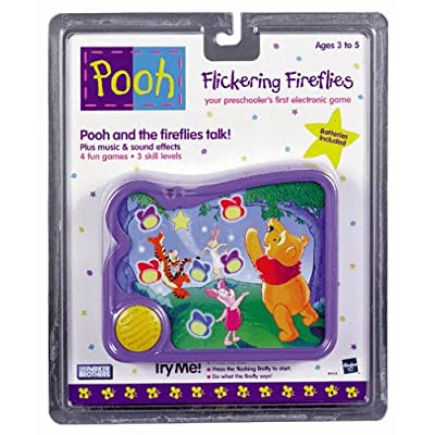 Winnie The Pooh Flickering Fireflies Handheld Electronic Game for Preschoolers, 4 Games in One: Toys & Games