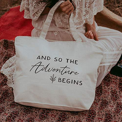Wedding Tote - Bride Tote Bag - Bride to Be Bag - Bridesmaid Gifts - Bridesmaid Tote Bags - Large! Zipper Top, Bridal Shower Gifts - Bridal Bags - Bridal Totes - Bride Bag Bridal Party Totes (Gifts Bridal Top Shower)