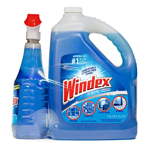 (Windex Original Glass & More Cleaner Trigger Spray 946mL/1 Qt + Refill 1 Gallon)