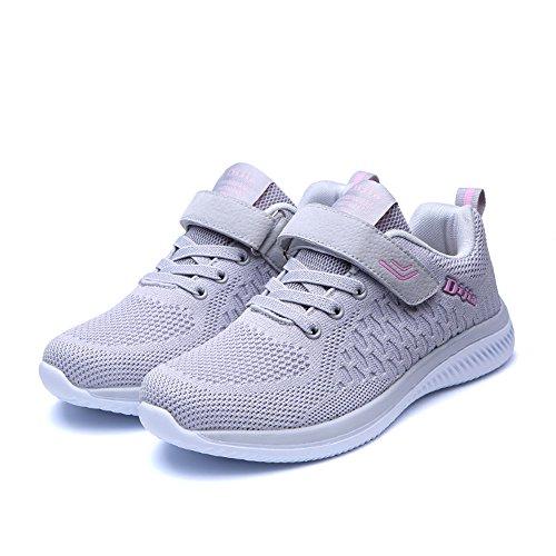 35 da Rosa da Respirabile 45 Grigio Unisex Donna Scarpe Leggere Scarpe Sneakers Ginnastica Running Corsa Uomo Sportive Basse e 5nawaUZq0
