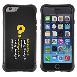 "Planetar® ( Knowledge Deep Message ) 4.7"" iPhone 6 Hybrid Heavy Duty Shockproof TPU Fundas Cover Cubre Case"