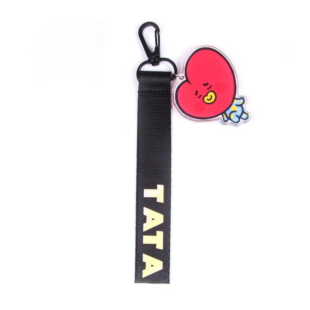 bosunshine Cute Cartoonキーチェーンキーリングホットギフトfor Army B078HXCX7T BT21 bag streamers-3#