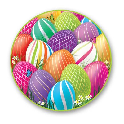 Easter 7 Plate 8 Ct,Axiom International,3427 by DollarItemDirect