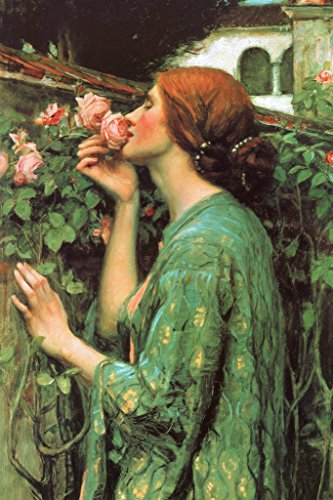John William Waterhouse The Soul of The Rose Art Print Poster 12x18 inch ()