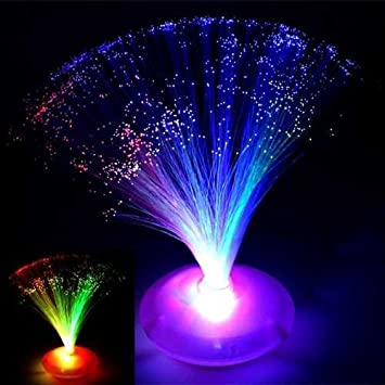 LED Fibre Optic UFO Lamp Light Changing
