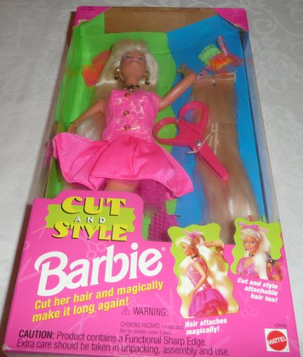 Mattel Cut and Style Barbie Doll w Attachable Hair (1994)