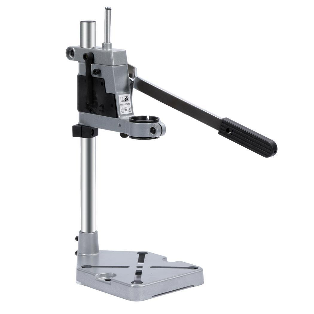 Hindom Multifunctional Aluminum Base Work Bench Rotary Tool Drill Press Support Stand, US STOCK