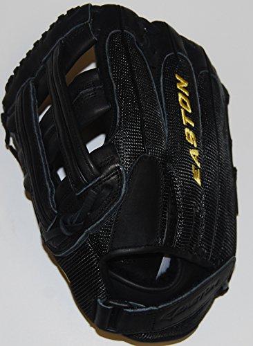 Easton Fielders Glove - Easton SVS131 LHT Salvo Black Slowpitch Softball Series 13 Fielders Glove Lefty