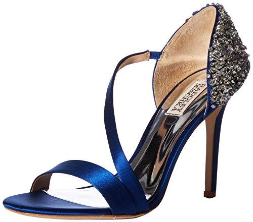 Badgley Mischka Women's Pauline Heeled Sandal, Royal Blue Satin, 7.5 M US