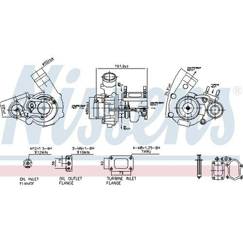 Nisss 93252 Turbo Charger: