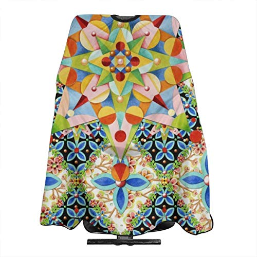 - Elizabethan Apple Blossom Starburst Haircut Hairdressing Cape Cloth Apron Hair Styling Hairdresser Cape Family Barber Salon