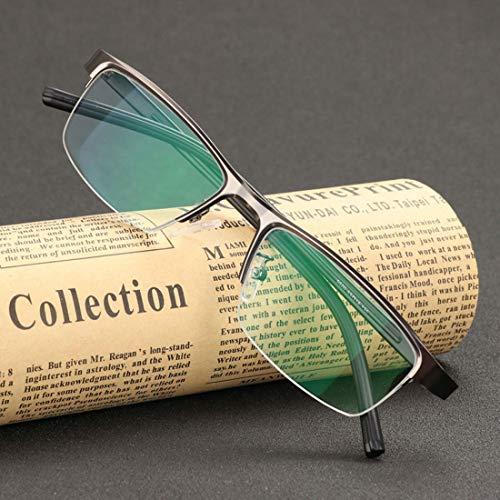 Progressive Multi-Focus Reading Glasses,Far and Near Dual-use Discoloration Zoom Ultralight Reading Glasses,Anti-Blue Light Anti-Radiation Resin Lenses,Unisex,200