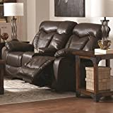 Coaster 601712 Home Furnishings Motion Love Seat, Dark Brown