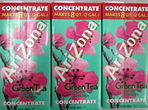 Arizona, Green Tea with Ginseng & Honey Concentrate, 32oz Box (Pack of 3)