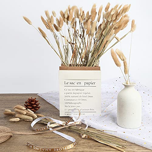JOHOUSE 120PCS Natural Rabbit\'s Tail Grass, 16inch Dried Pampas Grass Eternal Flower Dried Grass for Wedding Home Decoration Flower Arrangements Photo Props, Primary Color