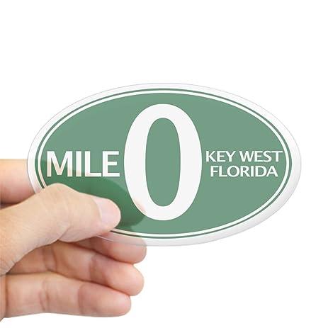 Cafepress mile 0 mile zero key west fl sticker oval