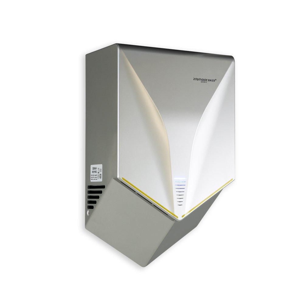 Interhasa! Premium Quality High Speed Hand Dryer 1000W Automatic Hand Dryer, Grey