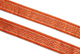 09 yards of orange golden handbag lace trim by iDukaancrafts